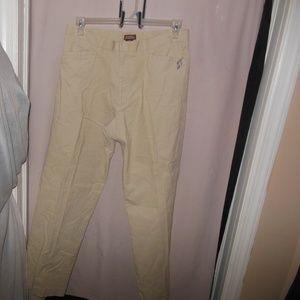 Tan Corduroy Straight Leg Trousers 34 X 32